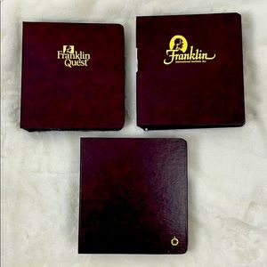 3 Franklin Covey Binders for Classic Planners